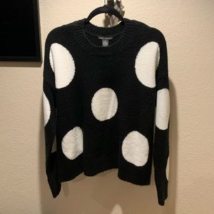Chelsea and Theodore polka dot sweater